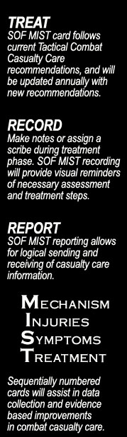 SOF MIST™ Casualty Treatment Card
